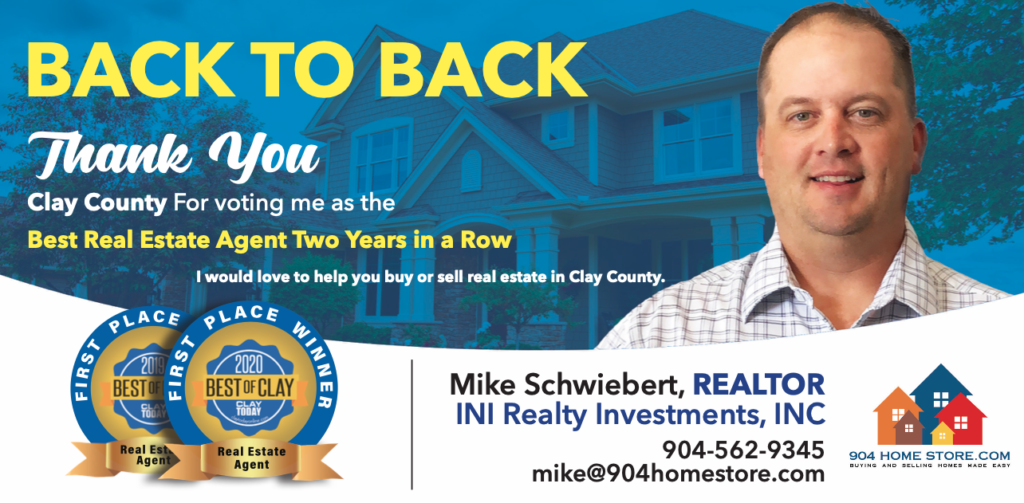 best clay county real estate agent 2019 2020